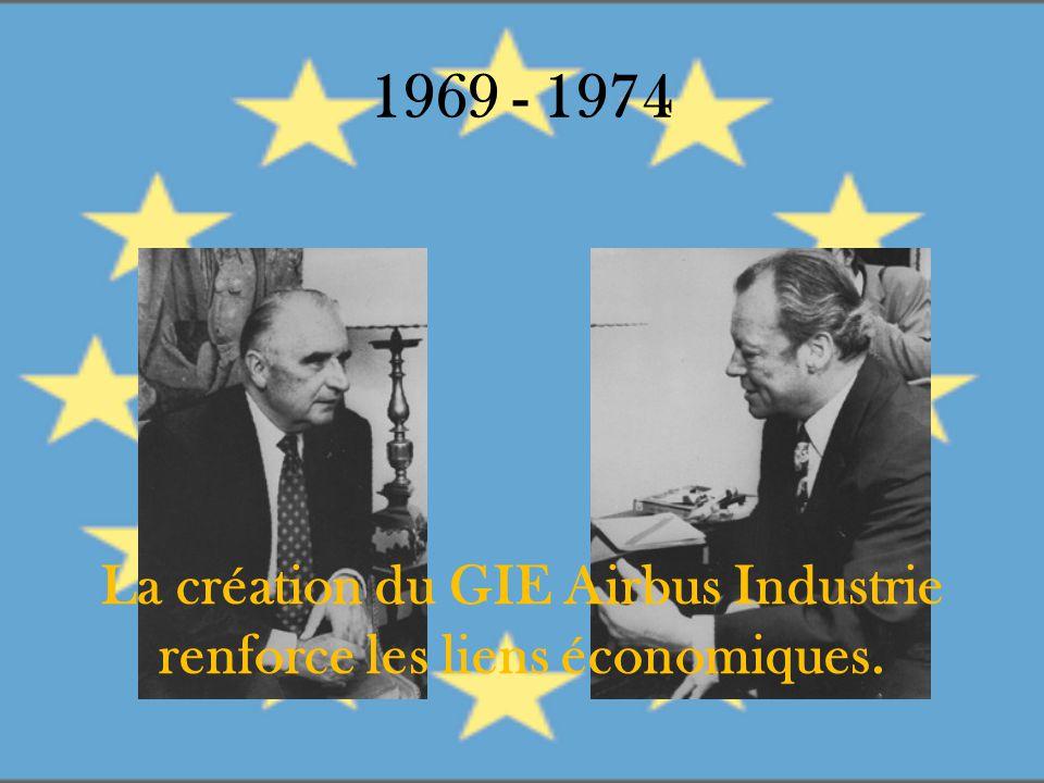 1969 - 1974 La création du GIE Airbus Industrie renforce les liens économiques.