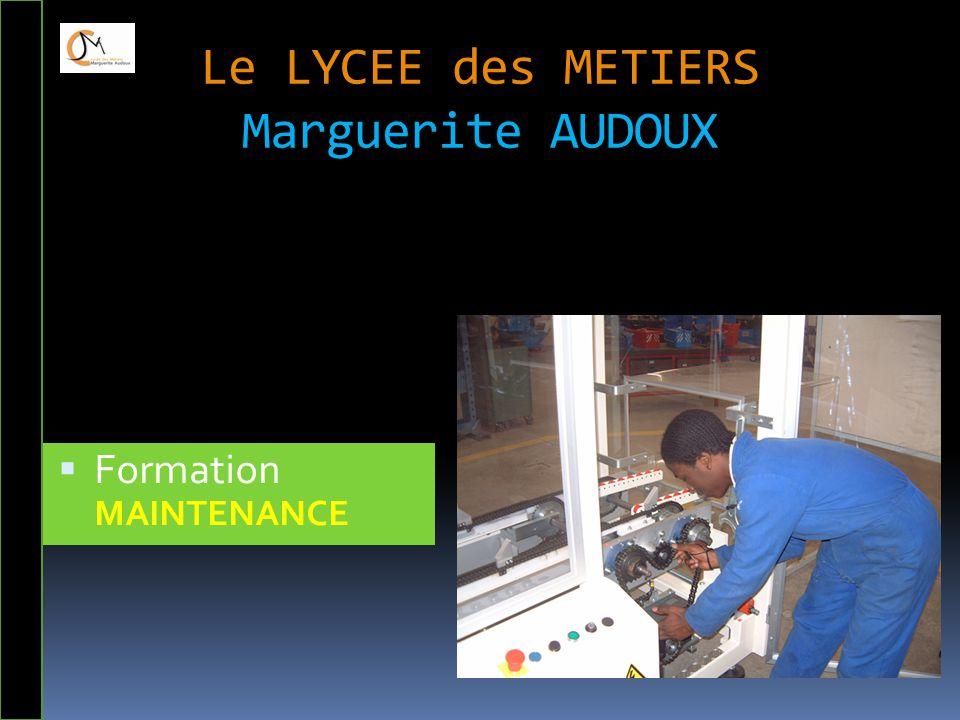 Le LYCEE des METIERS Marguerite AUDOUX  Formation MAINTENANCE