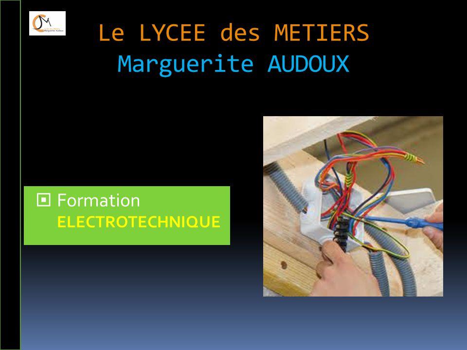 Le LYCEE des METIERS Marguerite AUDOUX  Formation ELECTROTECHNIQUE