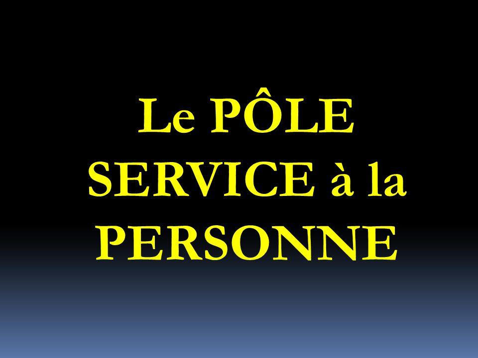 Le PÔLE SERVICE à la PERSONNE