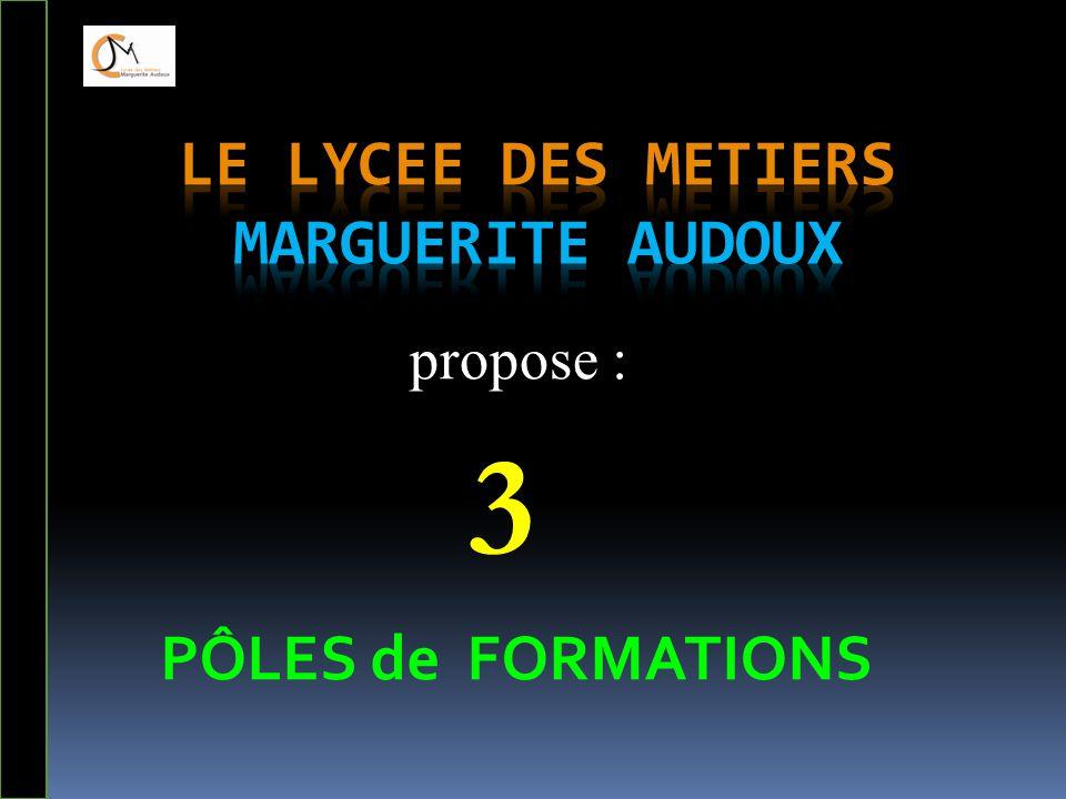 PÔLES de FORMATIONS propose : 3