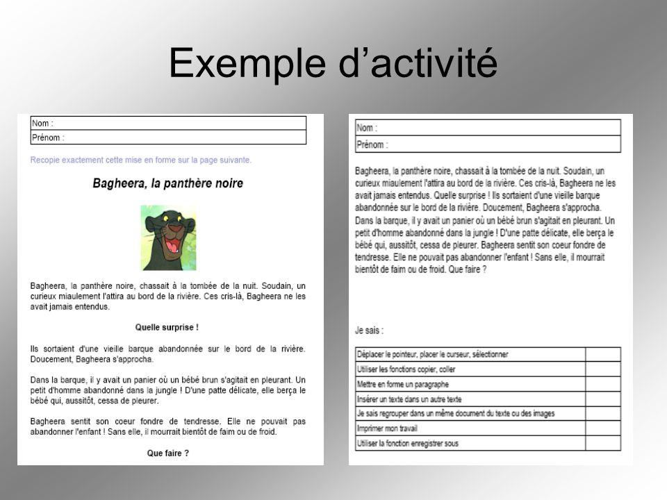 Exemple d'activité