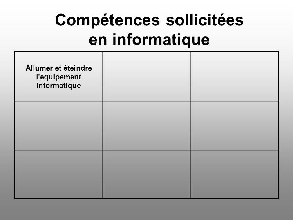 Compétences sollicitées en informatique Supprimer un mot ou un groupe de mots Imprimer un document