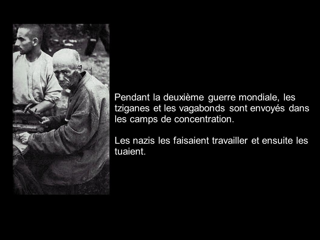 Pendant la deuxième guerre mondiale, les tziganes et les vagabonds sont envoyés dans les camps de concentration. Les nazis les faisaient travailler et