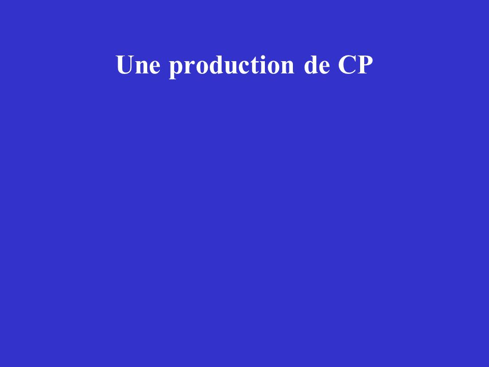 Une production de CP