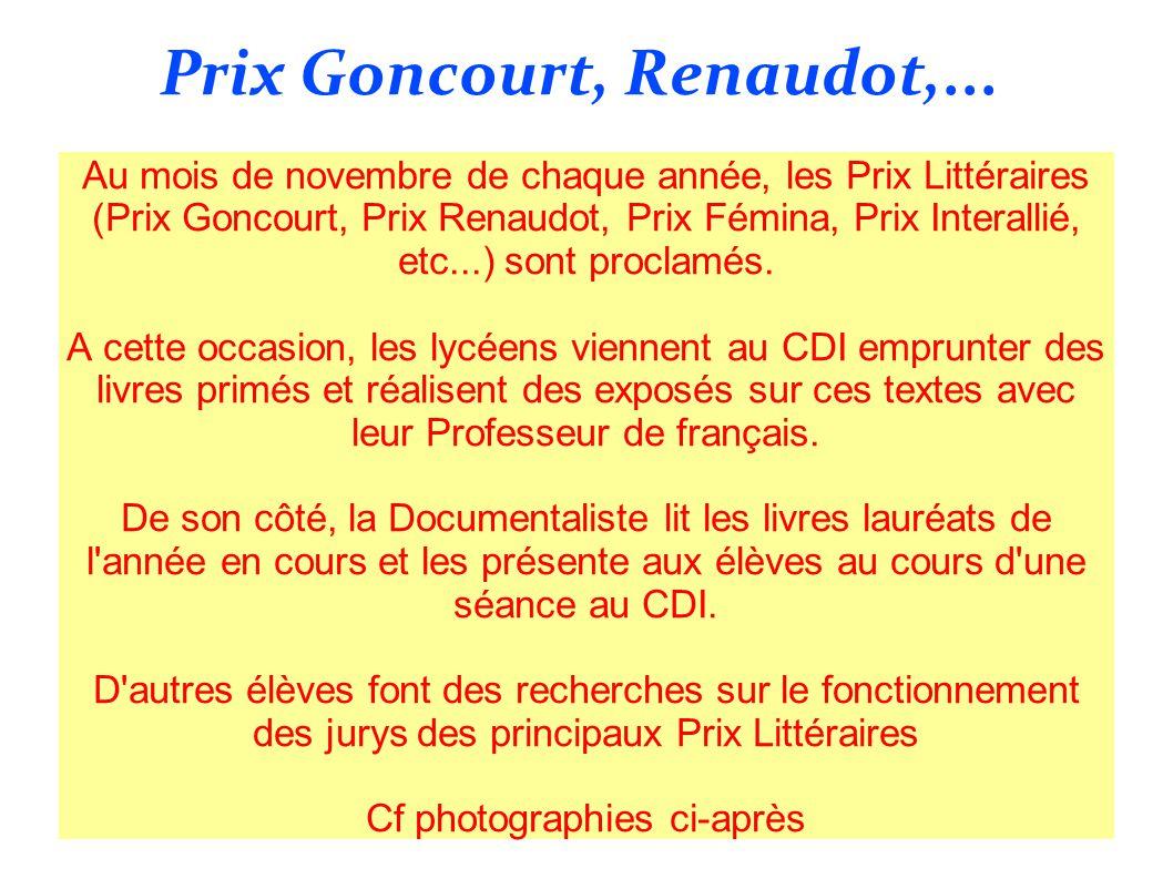 Prix Goncourt, Renaudot,...