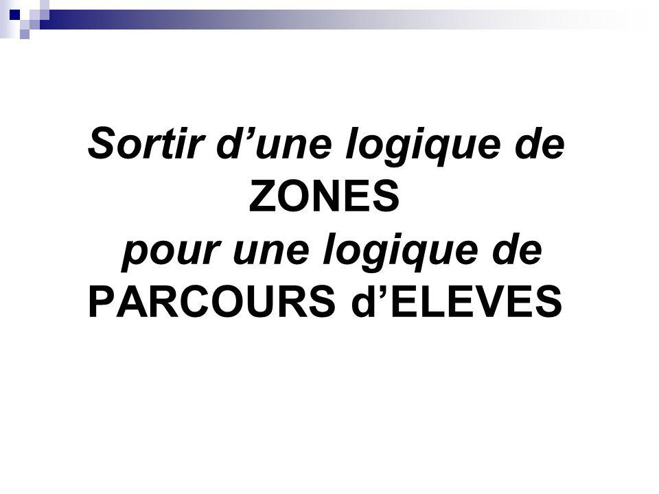 Sortir d'une logique de ZONES pour une logique de PARCOURS d'ELEVES