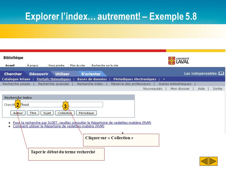 Explorer l'index… autrement.