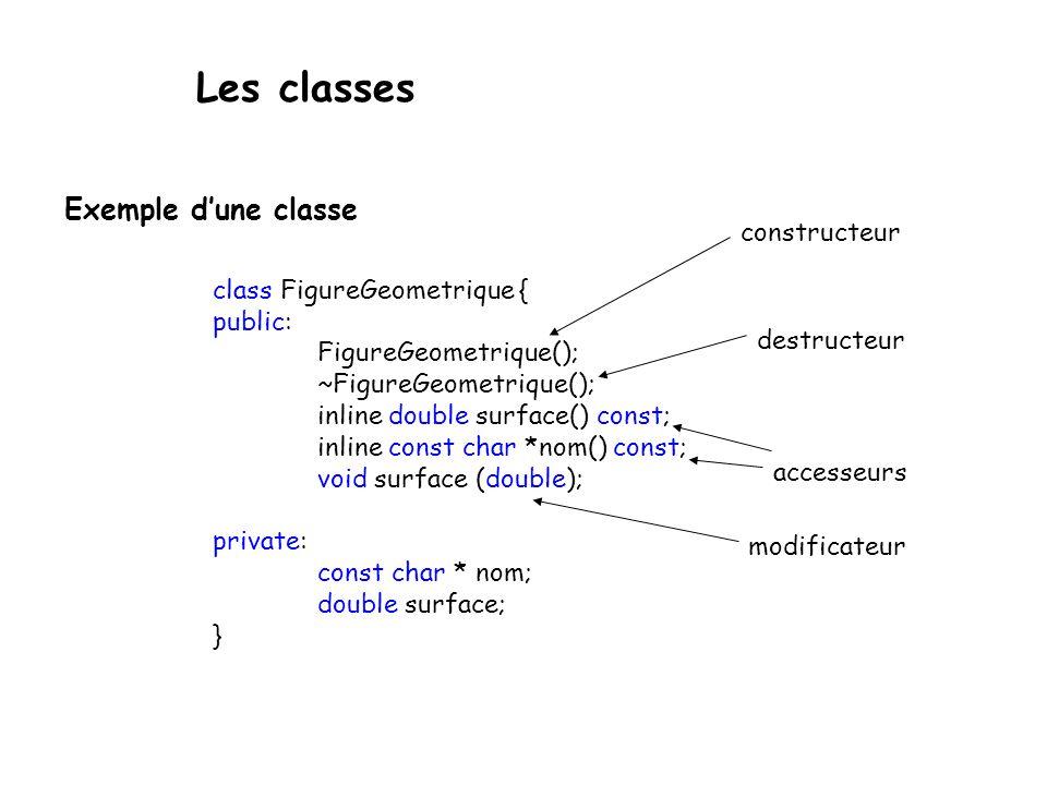 Les classes Public, private, protected Par défaut, dans une classe, seules les méthodes de cette classe peuvent accéder aux autres méthodes et aux membres.