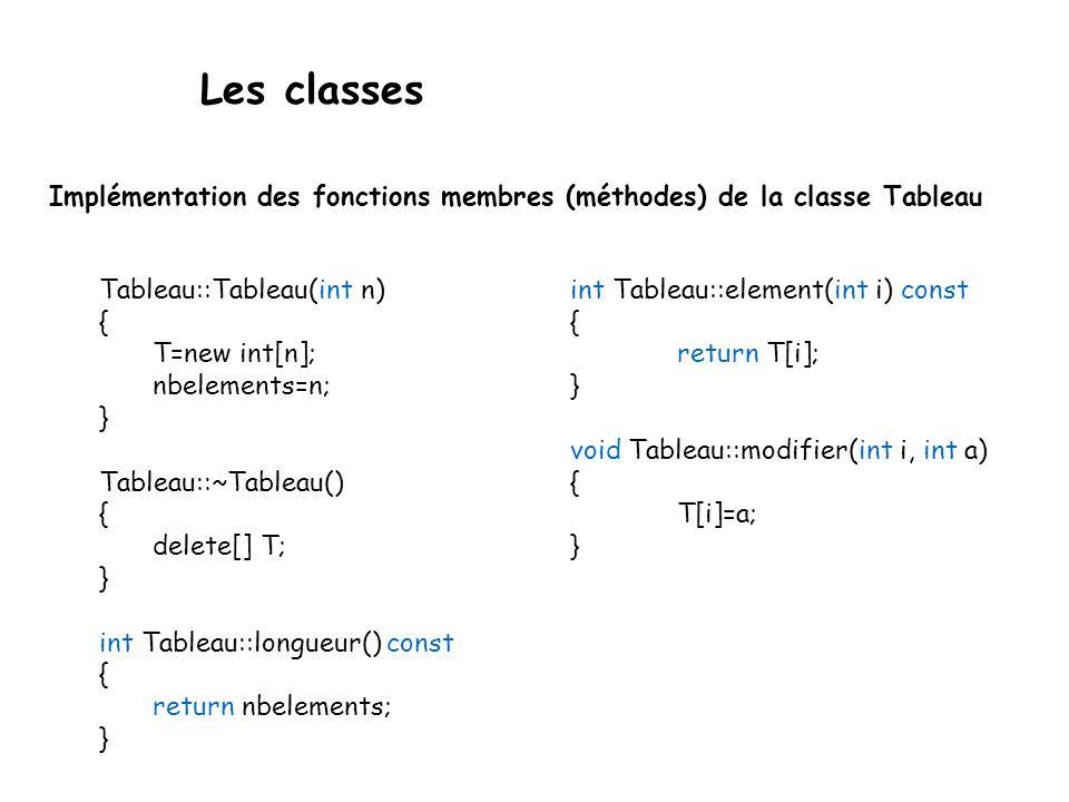 Méthodes constantes Outil permettant d'améliorer la qualité du code de façon très importante  il force la classification.