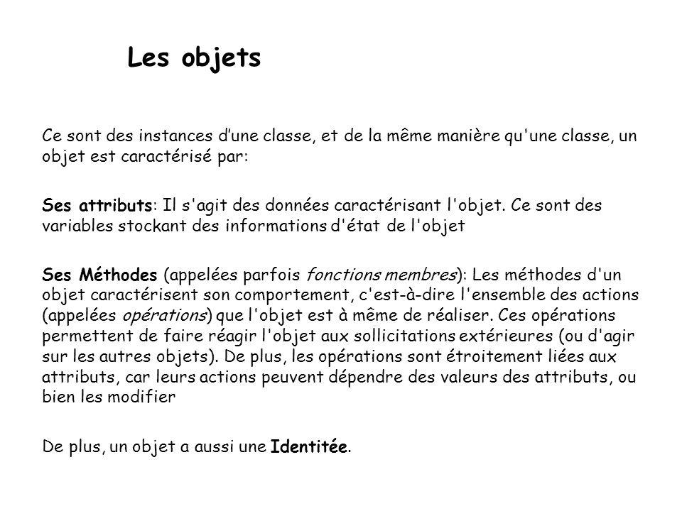 Instanciation d'une classe D'une manière générale, comme pour struct, le nom de la classe représente un nouveau type de donnée.