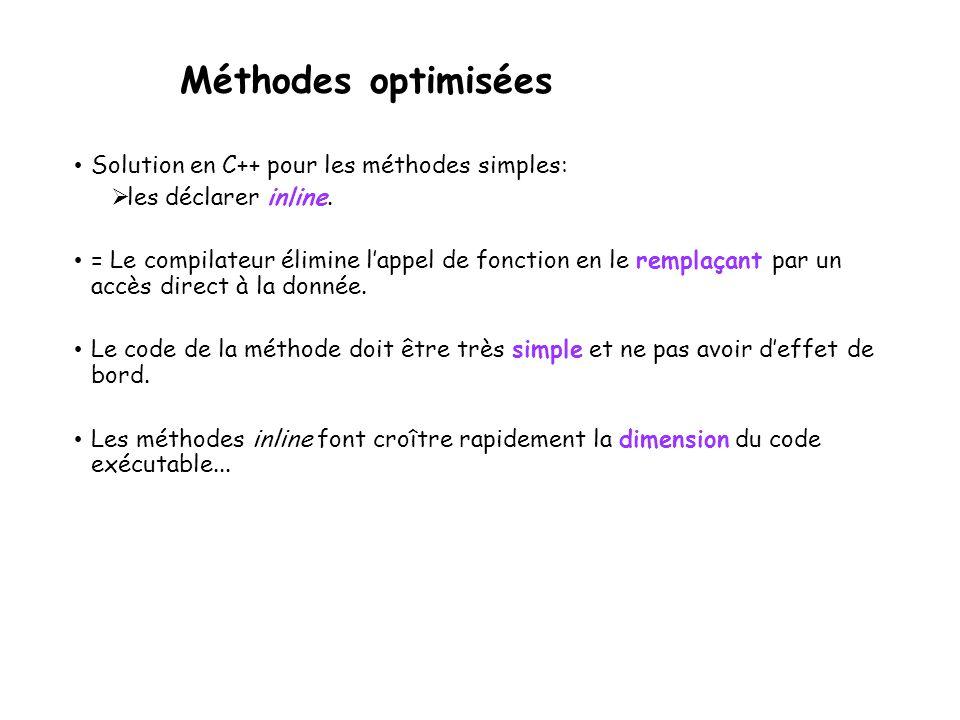 Fonctions membres statiques Grâce aux fonctions et aux données statiques, écrire une classe qui compte en permanence le nombre d'objets « actifs », le nombre d'objets « créés » et le nombre d'objets détruits.