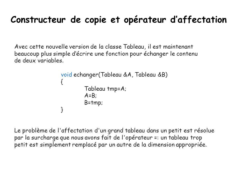 Le pointeur this Dans une méthode, ou un constructeur, le mot-clé this est un pointeur sur l'objet considéré.