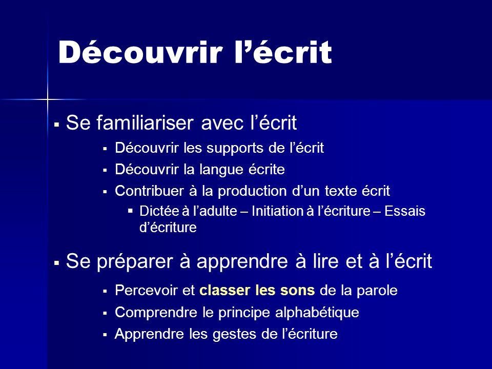 Le français   La progression dans la maîtrise de la langue française se fait selon un programme de lecture et d'écriture, de vocabulaire, de grammaire et d'orthographe (étude de la langue française)   Cette étude de la langue française donne lieu à des séances et des activités spécifiques et l'appui sur un manuel de qualité est un gage de succès : les connaissances et compétences s'acquièrent par l'entraînement   La littérature vient soutenir l'autonomie en lecture et en écriture des élèves