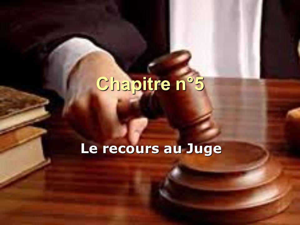 Chapitre n°5 Le recours au Juge