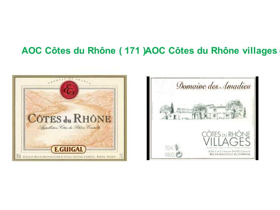 AOC Côtes du Rhône villages ( 95 )AOC Côtes du Rhône ( 171 )