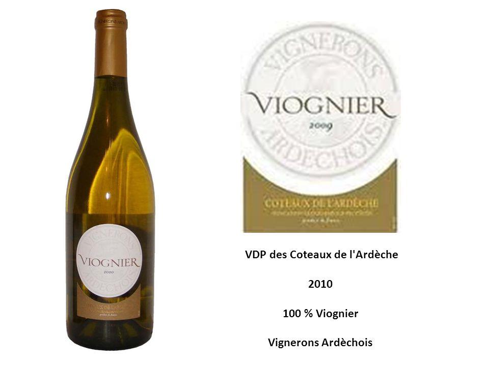 VDP des Coteaux de l'Ardèche 2010 100 % Viognier Vignerons Ardèchois