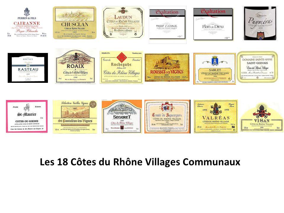 Les 18 Côtes du Rhône Villages Communaux