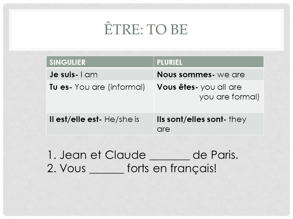 TU VS.VOUS Choose tu or vous to address the following people: 1.