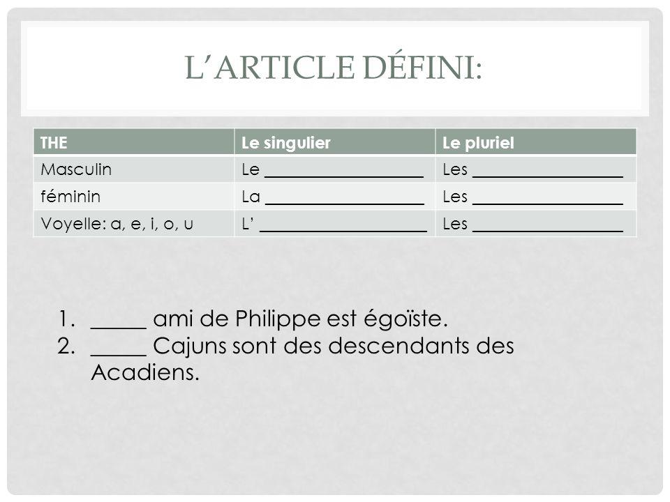 AU PLURIEL Rewrite the sentences, making all necessary changes.