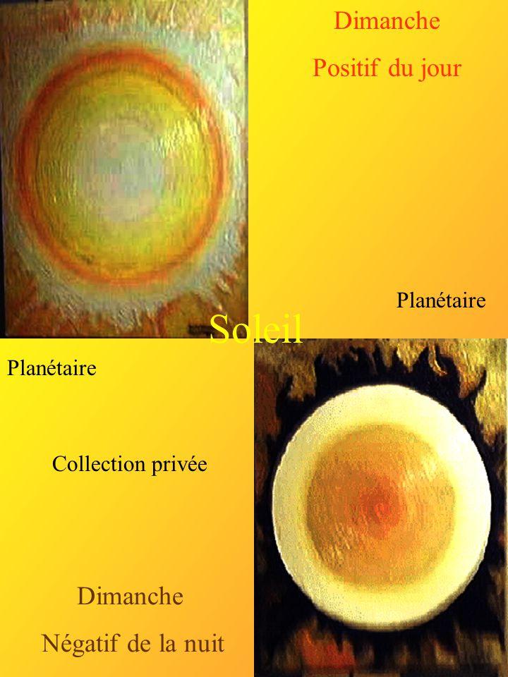 Dimanche Positif du jour Dimanche Négatif de la nuit Planétaire Soleil Collection privée
