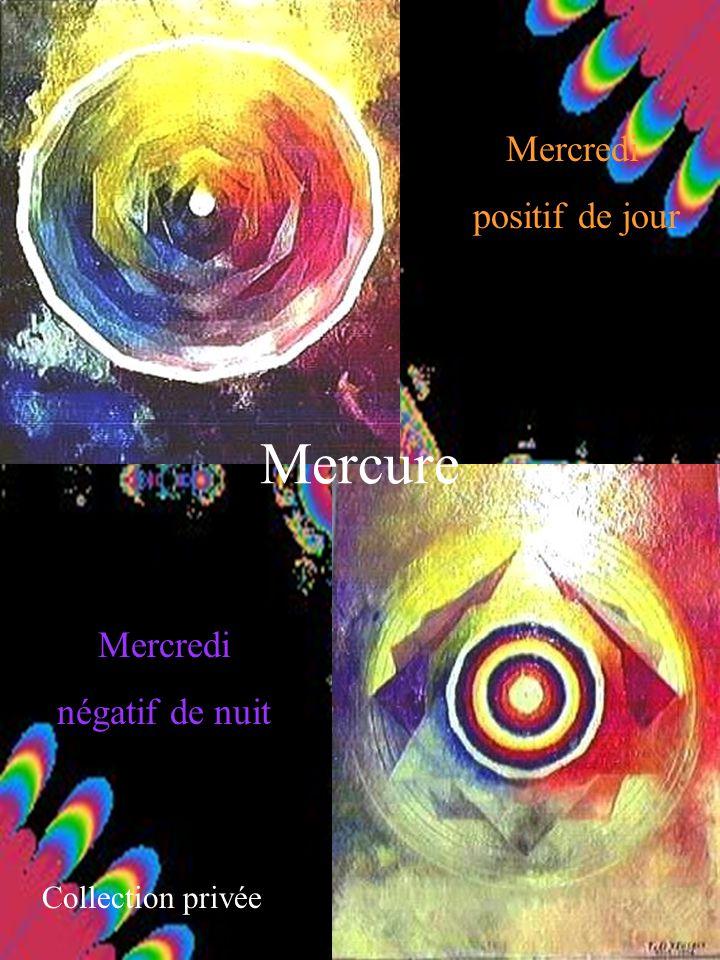 Mercure Mercredi positif de jour Mercredi négatif de nuit Collection privée