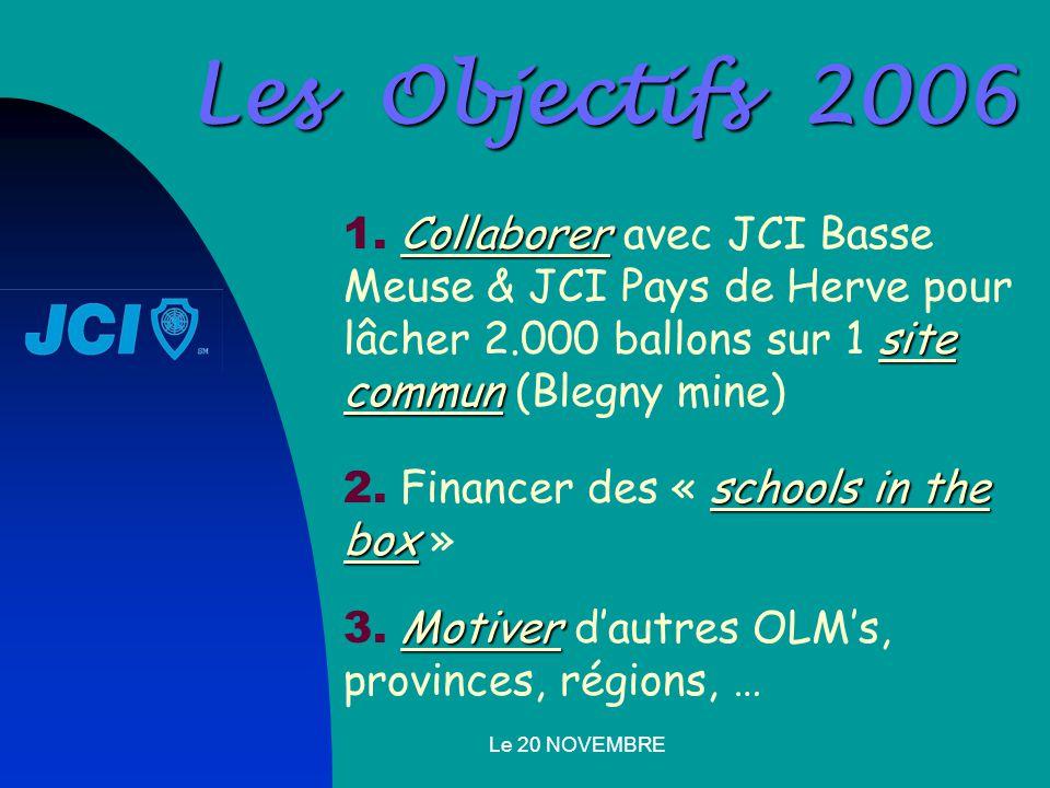 Le 20 NOVEMBRE Les Objectifs 2006 Collaborer site commun 1.