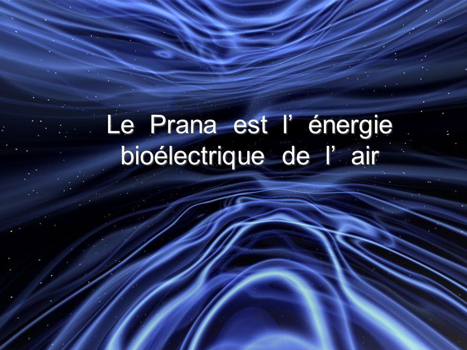 Le Prana est l' énergie bioélectrique de l' air