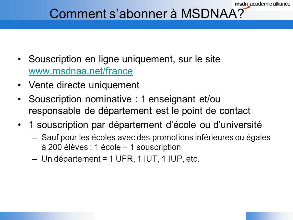 Comment s'abonner à MSDNAA.