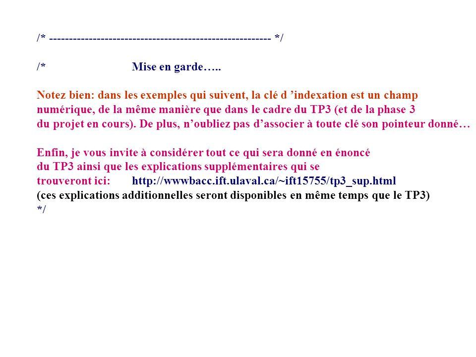 /* -------------------------------------------------------- */ /* **** btutil.c **** Contient les fonctions utilitaires du programme create_root() -- Obtient et initialise le noeud racine et insere une clef.