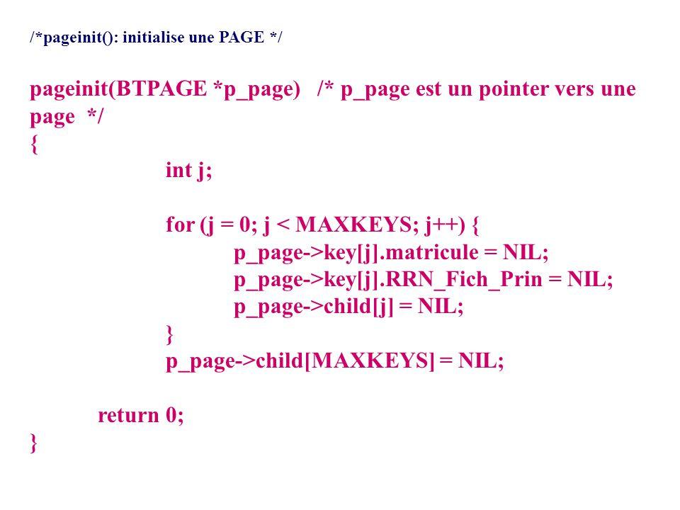 /* **** btio.c **** Ce fichier contient les fonctions b-arbre impliquees directement dans les entres/sorties btopen() -- Ouvre le fichier btree.dat qui contient le b-arbre.