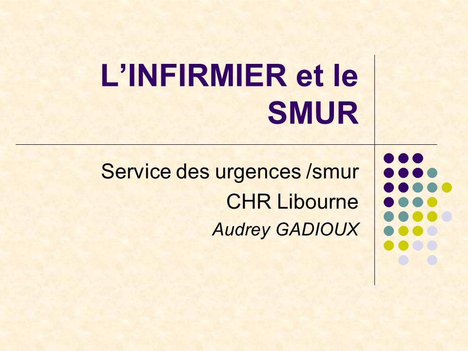 L'INFIRMIER et le SMUR Service des urgences /smur CHR Libourne Audrey GADIOUX