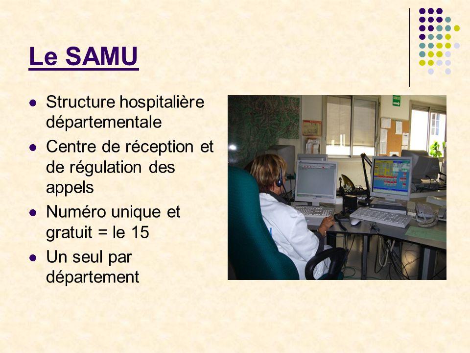 Samu : fonctionnement Assurer une écoute médicale permanente; Déterminer et déclencher, dans le délai le plus rapide, la réponse la mieux adaptée à la nature des appels;