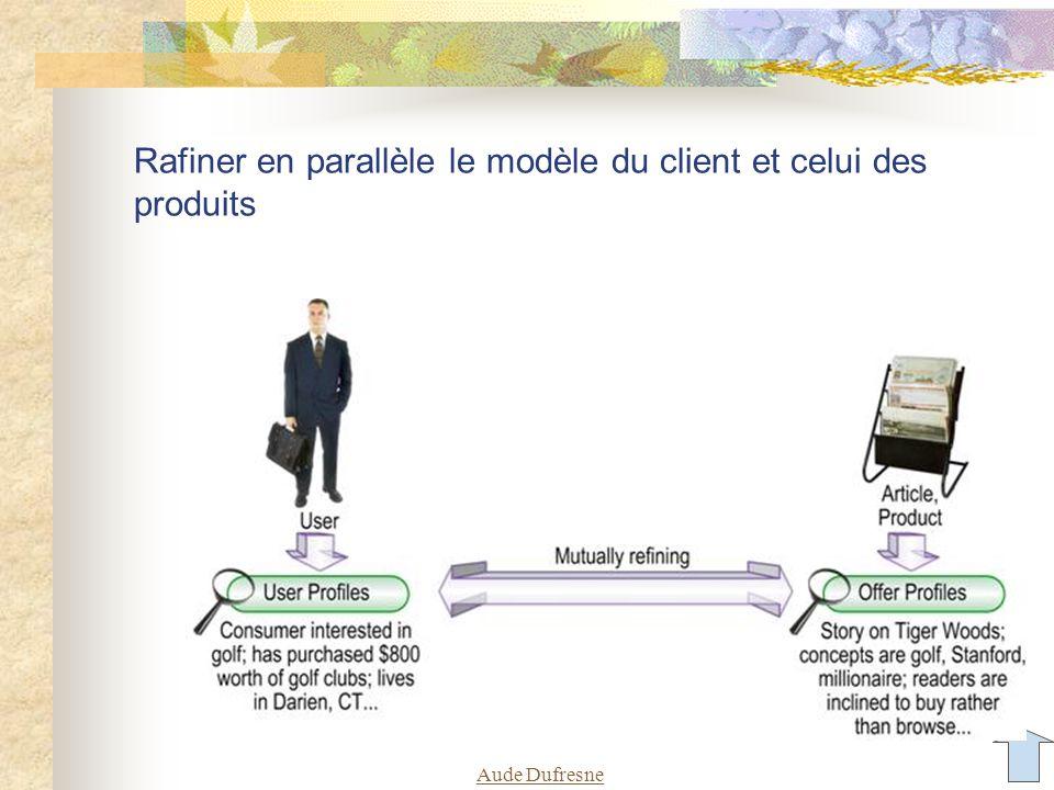 Aude Dufresne Rafiner en parallèle le modèle du client et celui des produits