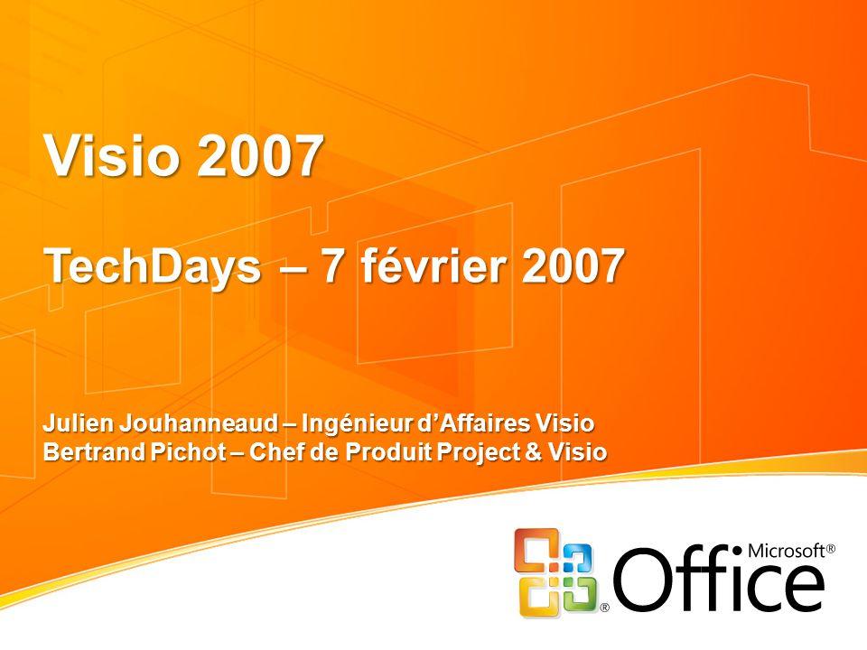 Visio 2007 TechDays – 7 février 2007 Julien Jouhanneaud – Ingénieur d'Affaires Visio Bertrand Pichot – Chef de Produit Project & Visio