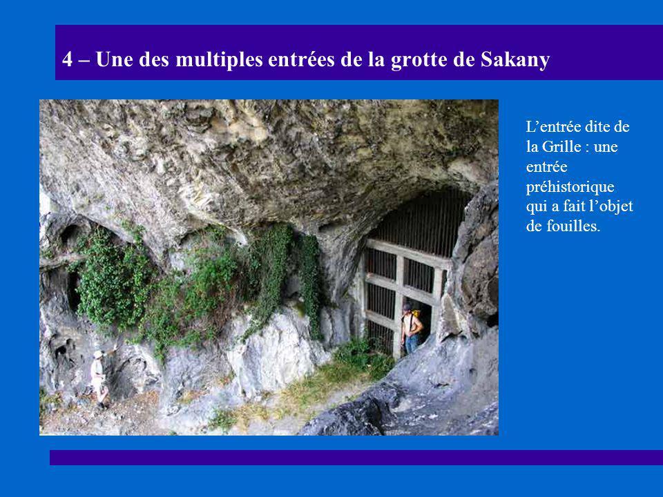 4 – Une des multiples entrées de la grotte de Sakany L'entrée dite de la Grille : une entrée préhistorique qui a fait l'objet de fouilles.