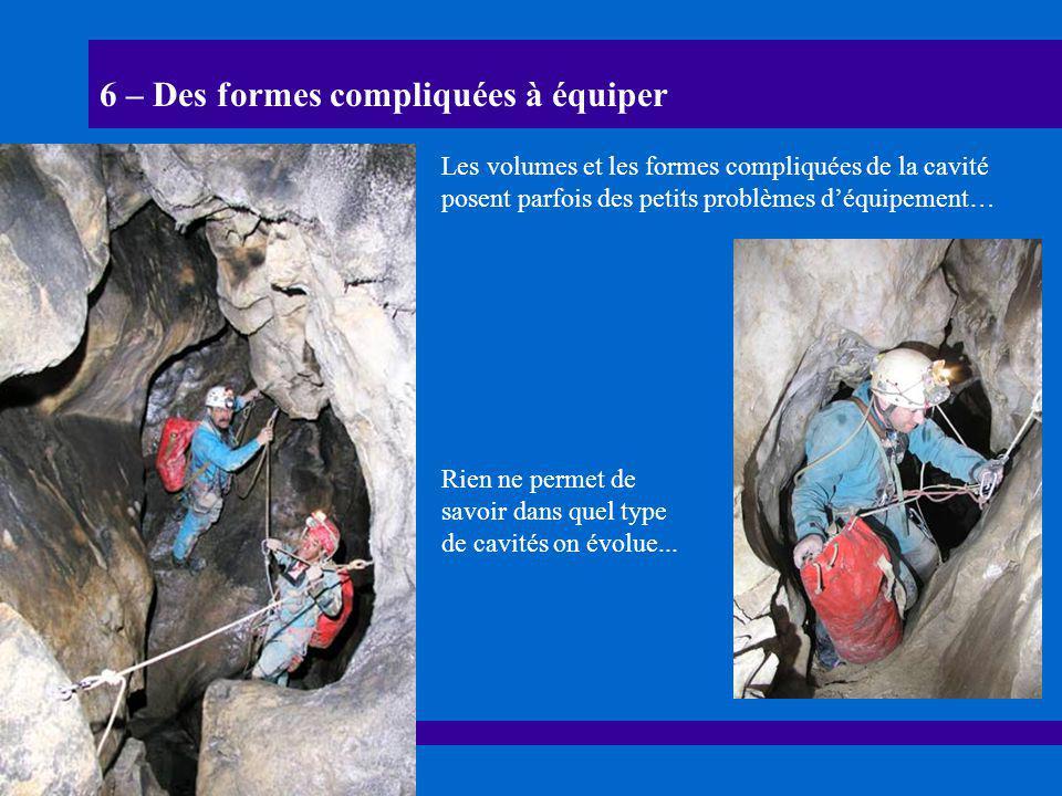 6 – Des formes compliquées à équiper Les volumes et les formes compliquées de la cavité posent parfois des petits problèmes d'équipement… Rien ne perm