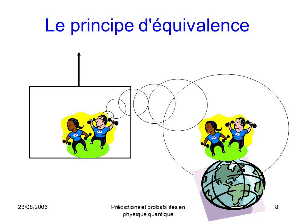 23/08/2006Prédictions et probabilités en physique quantique 8 Le principe d'équivalence