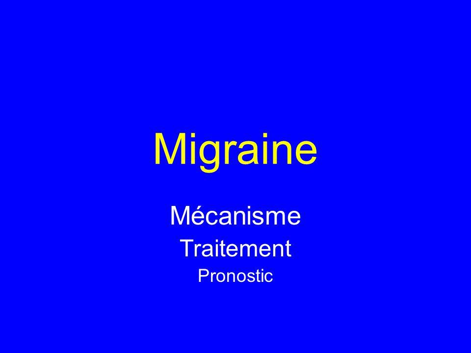 Migraine Mécanisme Traitement Pronostic