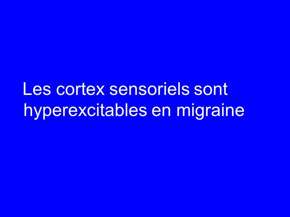 Les cortex sensoriels sont hyperexcitables en migraine