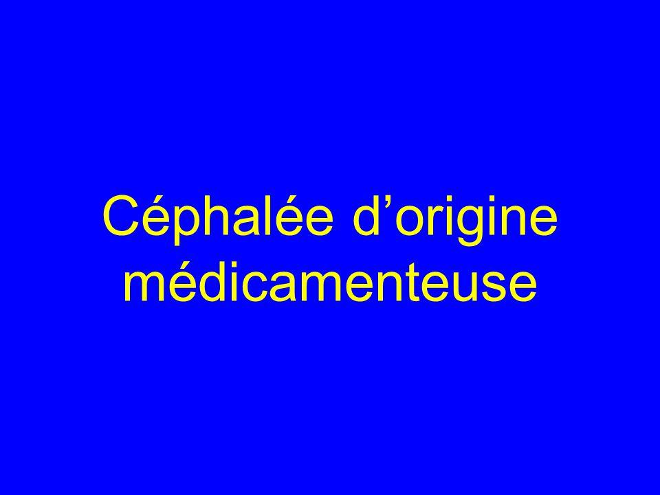 Céphalée d'origine médicamenteuse