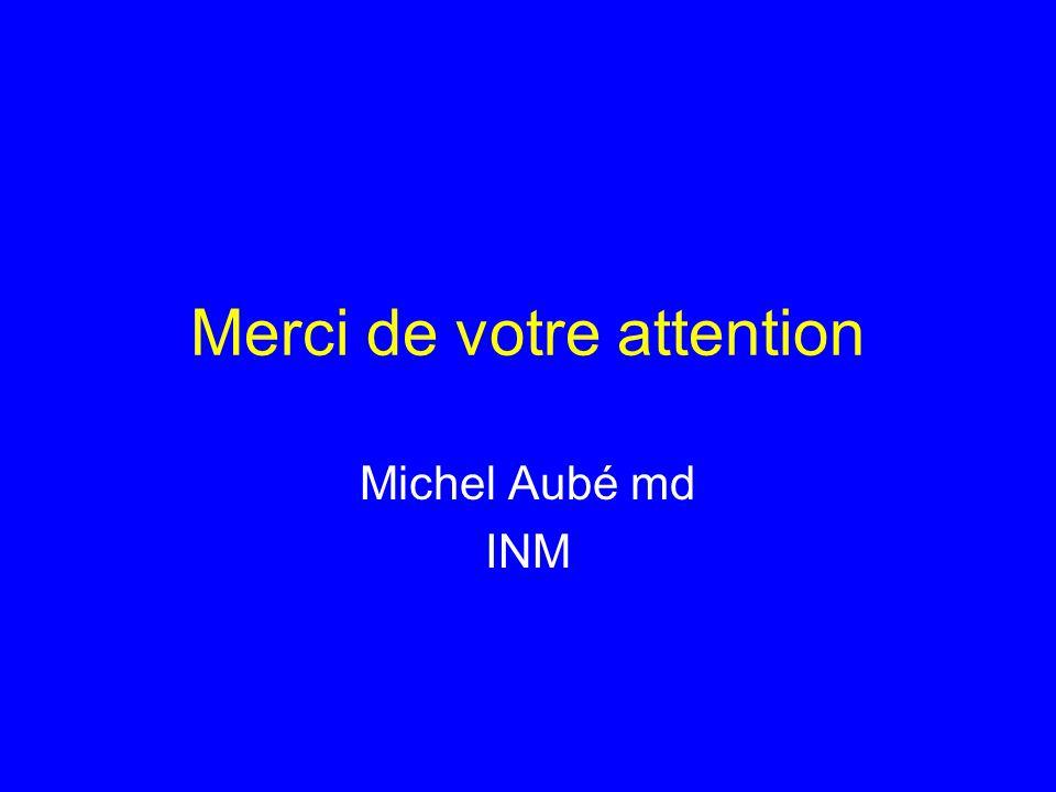 Merci de votre attention Michel Aubé md INM