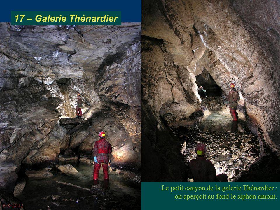 6-8-2012 Le petit canyon de la galerie Thénardier : on aperçoit au fond le siphon amont.