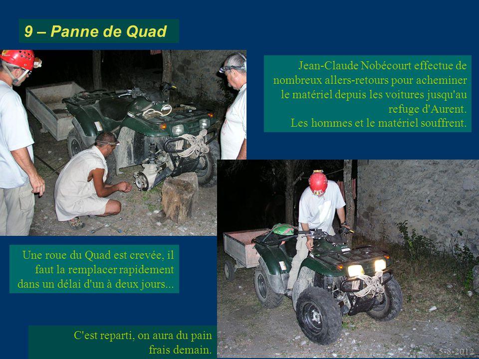 Jean-Claude Nobécourt effectue de nombreux allers-retours pour acheminer le matériel depuis les voitures jusqu'au refuge d'Aurent. Les hommes et le ma