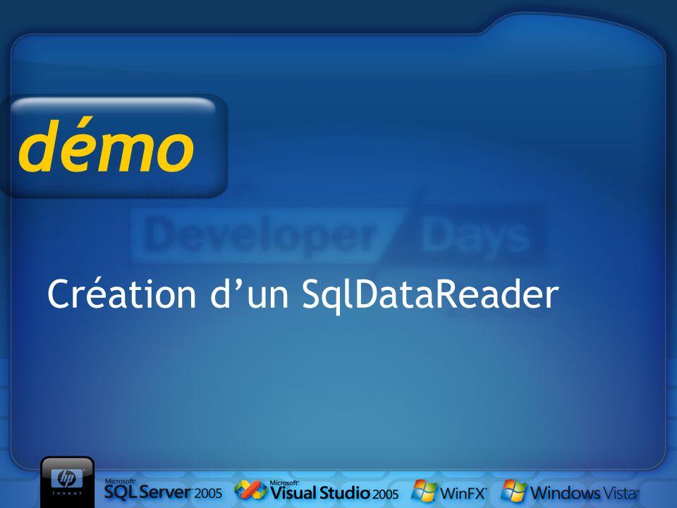 Création d'un SqlDataReader démo