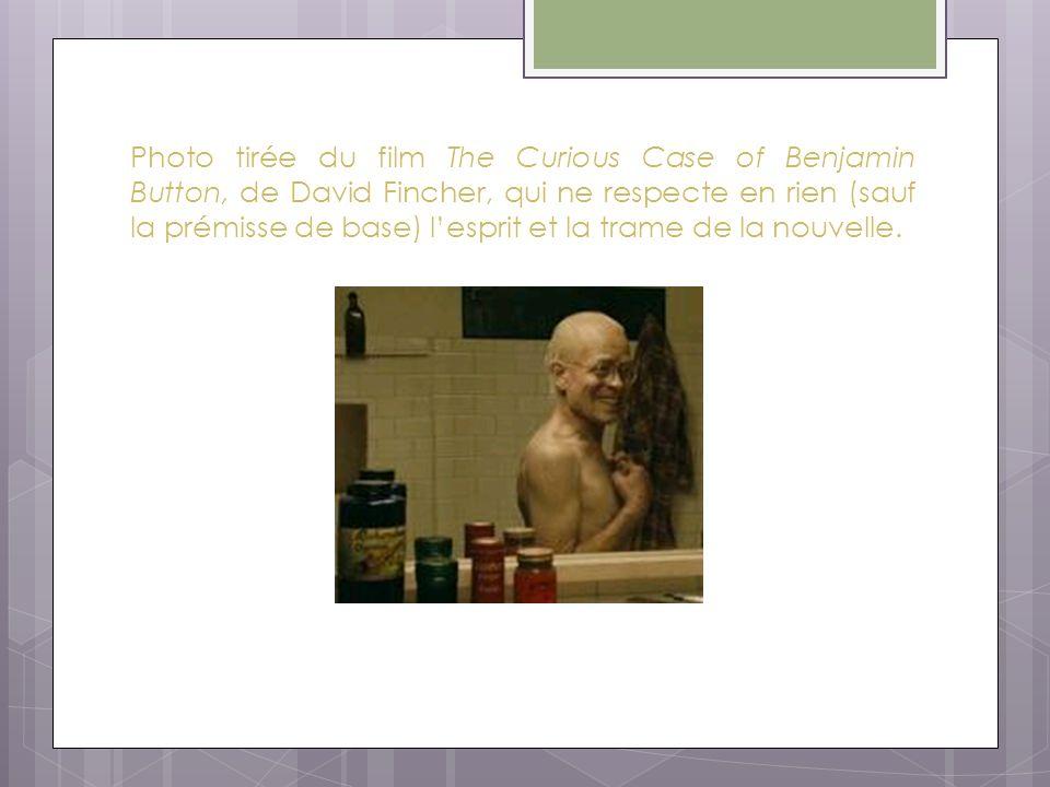 Photo tirée du film The Curious Case of Benjamin Button, de David Fincher, qui ne respecte en rien (sauf la prémisse de base) l'esprit et la trame de la nouvelle.