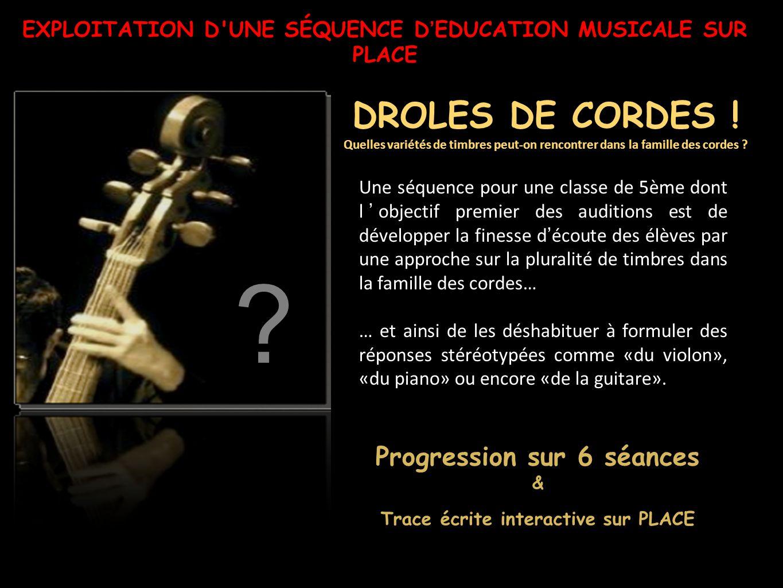 Proposition d'écoutes sur 6 séances 1)Viole n'est pas violon .