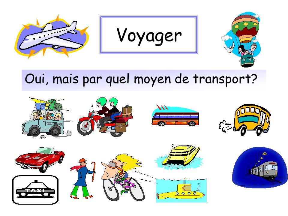 Voyager Oui, mais par quel moyen de transport?