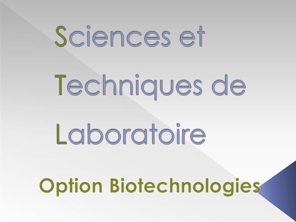 3 salles de TP sont dédiées aux biotechnologies :