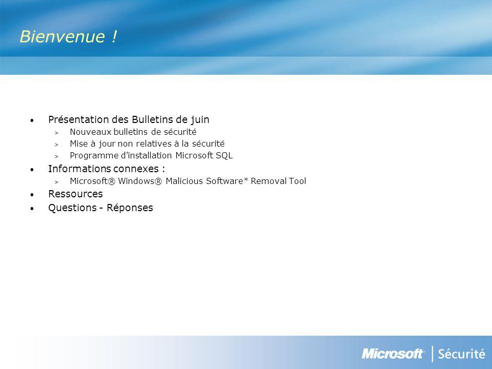 MS08-032 : Mise à jour de sécurité cumulative pour les kill bits ActiveX (950760) - Modéré VulnérabilitéIl existe une vulnérabilité qui pourrait permettre l exécution de code à distance lorsque la fonctionnalité de reconnaissance vocale est activée dans Windows Vista.
